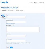 Free meeting scheduling software from Doodle