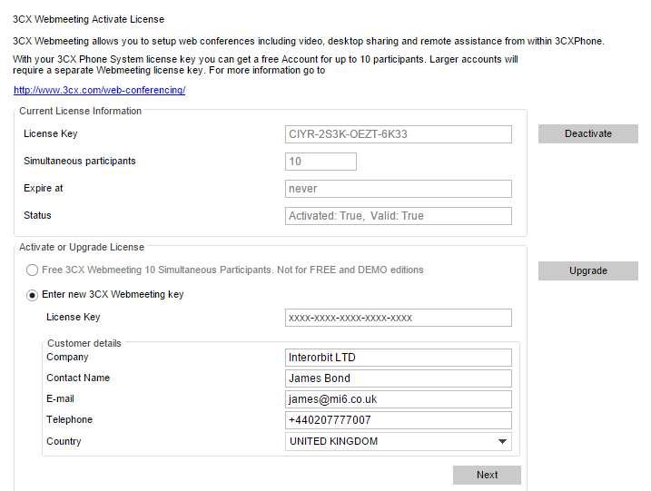 Web conferencing server // On-line