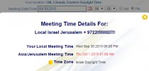 Global Meeting Time Zones