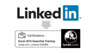 lynda.com certificates on LinkedIn