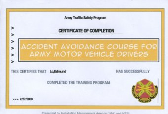 Accident Avoidance Course