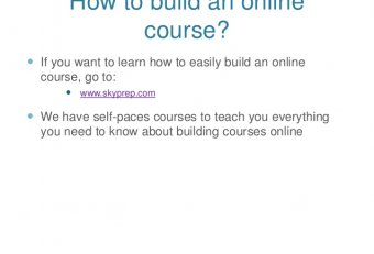 Build online courses