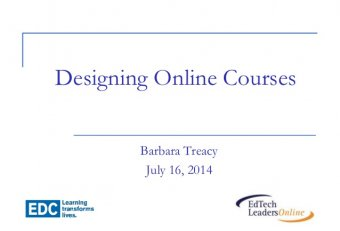 Developing online courses