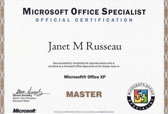 Microsoft Office Certification courses online