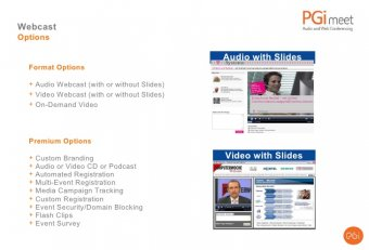 Web conferencing branding options