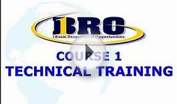 1BRO Course1 Part 1 - Technical Training