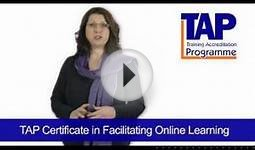 Certificate in Facilitating Online Learning - TAP Training