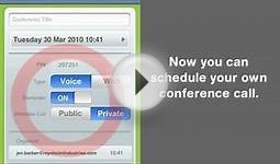 Conference Call iPhone App Demo by Powwownow
