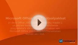 Cursus Microsoft Office 2007 - Online E-learning Training