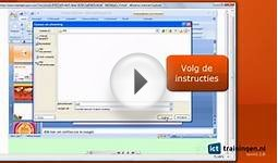 Cursus PowerPoint 2007 - Online E-learning Training
