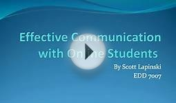 Effective Communication With Online Students