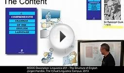 Free Online Course: Linguistics 201 - The Structure of English