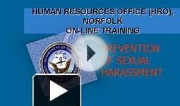 HUMAN RESOURCES OFFICE HRO, NORFOLK ONLINE TRAINING