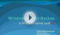 Learn all about Windows Server Backup in Windows Server