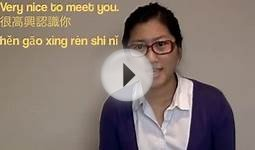 Meeting People is easy in Mandarin Chinese :)