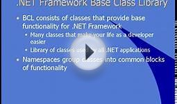 Microsoft .NET Tutorial - .NET Framework Classes (Part 06)