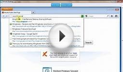 MingleView -Free DeskTop Sharing Software - Starting a Meeting