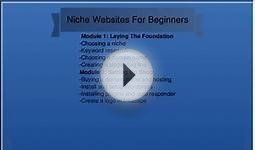 Niche Websites For Beginners: Course Outline