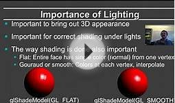 Online Graphics Course OpenGL Shading: Motivation