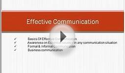 Principle of Effective Communication Part 1 (Attitude