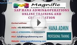 sap hana admin&operations online training and certification