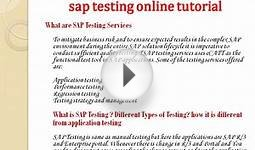 sap testing online training and certification