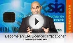 SIA Training Physical Intervention course resource