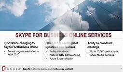 Skype for Business Online Services: New and Upcoming Features