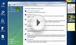 Windows Vista Add Icons To Your Desktop Training Video