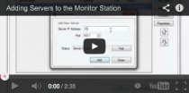 video tutorial on adding servers to your monitor station