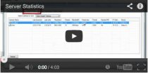 Video tutorial on server statistics for your surveillance system